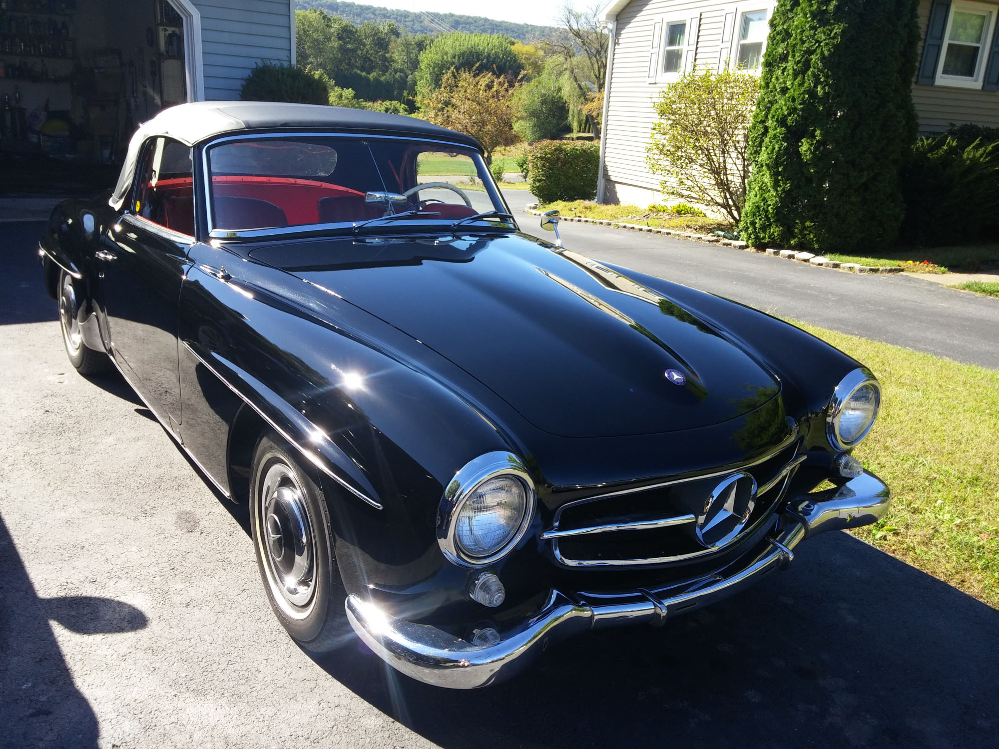 1959 Black Mercedes Benz 190 Sl