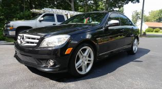 Black Mercedes Benz C350